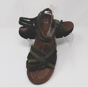 Keen Naples Forest Green Strappy Sandals Size 8.5